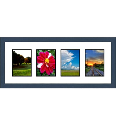 4 Opening Collage Picture Frame Color: Blue