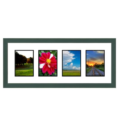 4 Opening Collage Picture Frame Color: Green