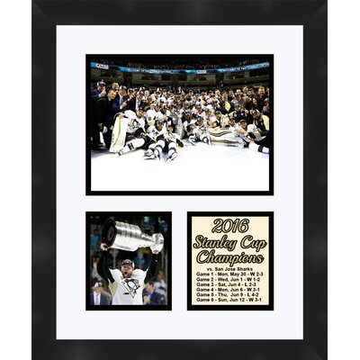 Pittsburgh Penguins Phil Kessel Holding The 2016 Stanley Cup Collage Framed Photographic Print TP04-10-00-SCPKa