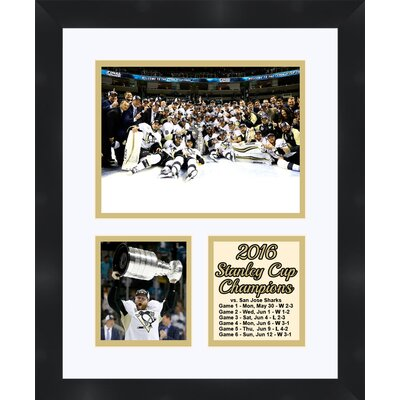 Pittsburgh Penguins Phil Kessel holding the 2016 Stanley Cup Collage Framed Photographic Print TP04-10-00-SCPK