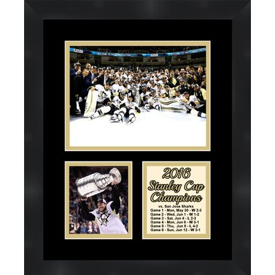 Pittsburgh Penguins Sidney Crosby Holding the 2016 Stanley Cup Collage Framed Photographic Print TP04-11-00-SCSC2
