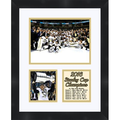 Pittsburgh Penguins Sidney Crosby Holding the 2016 Stanley Cup Collage Framed Photographic Print TP04-10-00-SCSC4