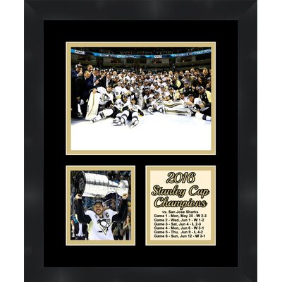 Pittsburgh Penguins Sidney Crosby 2016 Stanley Cup Collage Framed Photographic Print TP04-11-00-SCSC4