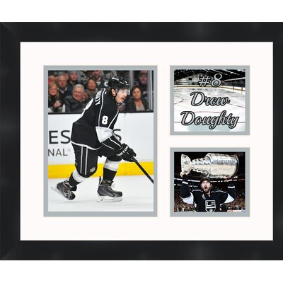 Drew Doughtry 8 Los Angeles Kings 2012 Stanley Cup Champions Photo Collage Framed Photographic Print TP03-10-00-HKY8DD