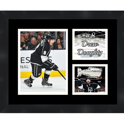 Drew Doughtry 8 Los Angeles Kings 2012 Stanley Cup Champions Photo Collage Framed Photographic Print TP03-11-00-HKY8DD2