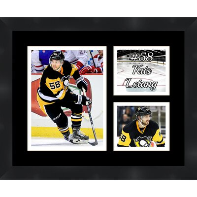 Pittsburgh Penguins Kris Letang 58 Photo Collage Framed Photographic Print TP03-11-00-HKY58KL2