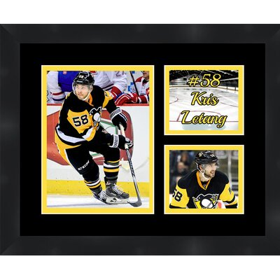 Pittsburgh Penguins Kris Letang 58 Photo Collage Framed Photographic Print TP03-11-00-HKY58KL