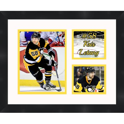 Pittsburgh Penguins Kris Letang 58 Photo Collage Framed Photographic Print TP03-10-00-HKY58KL