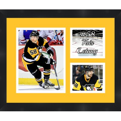 Pittsburgh Penguins Kris Letang 58 Photo Collage Framed Photographic Print TP03-02-00-HKY58KL2