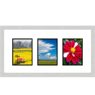 3 Opening Collage Picture Frame Color: Silver