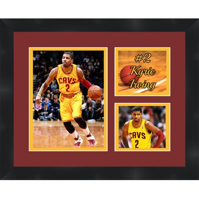 'Kyrie Irving' Framed Photographic Print Matte Trim Color: Gold, Matte Color: Dark Brown TP03-08-00-NBA2KI2