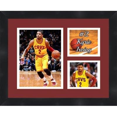 'Kyrie Irving' Framed Photographic Print Matte Trim Color: White, Matte Color: Dark Brown TP03-08-00-NBA2KI