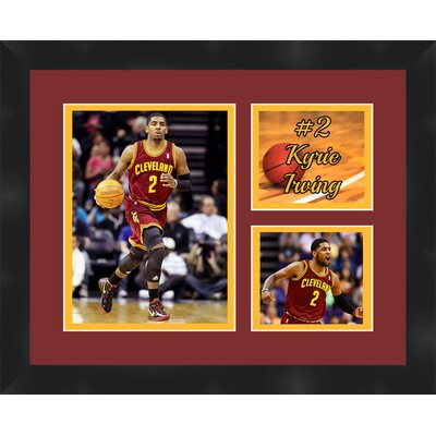 'Kyrie Irving' Framed Photographic Print Matte Trim Color: Gold, Matte Color: Dark Brown TP03-08-00-NBA2KI4