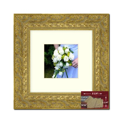 Square Gold Picture Frame Size: 14