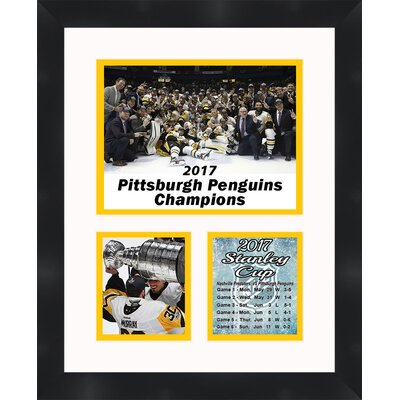 'Matt Murray Pittsburgh Penguins 2017 Stanley Cup' Framed Photographic Print TP04-10-00-PITTS20171