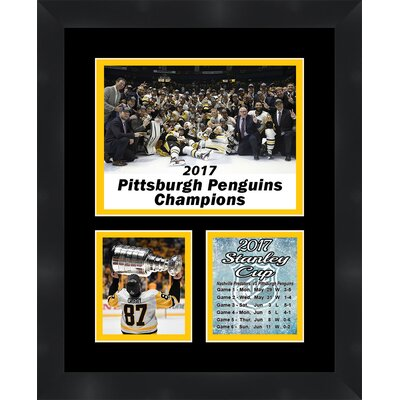 'Pittsburgh Penguins Sidney Crosby 2017 Stanley Cup' Framed Photographic Print Matte Trim Color: Black TP04-11-00-PITTS201713