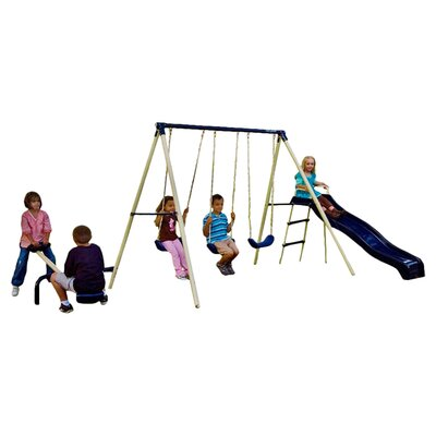Flexible Flyer Triple Fun Swing Set 43544t Ffl1035