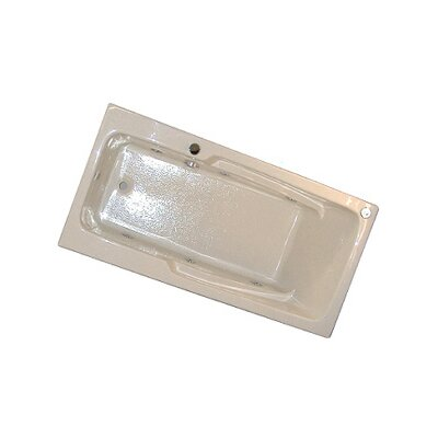 60 x 30 Armrest Whirlpool Tub Finish: Bone, Drain Location: Left