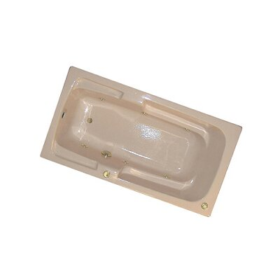 60 x 30 Arm-Rest Whirlpool Tub Finish: Bone, Drain Location: Right