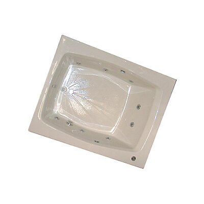 60 x 48 Whirlpool Tub Finish: Biscuit , Drain Location: Right
