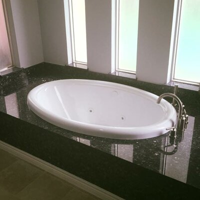 58 x 39 Whirlpool Bathtub Finish: Bone, Drain Location: Left