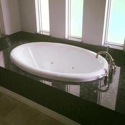 58 x 39 Air Bathtub Finish: Biscuit, Drain Location: Left