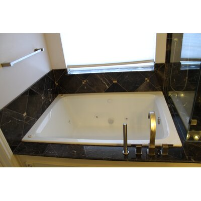 60 x 42 Soaker Rectangular Bathtub Finish: White