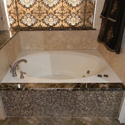 60 x 42 Rectangular Deck Whirlpool Tub Finish: Biscuit, Drain Location: Right