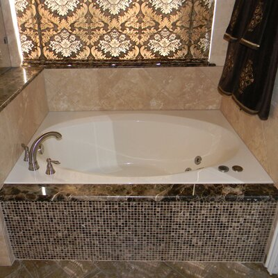 60 x 42 Rectangular Deck Salon Spa Air/Whirlpool Tub Finish: Bone, Drain Location: Right