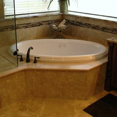 69 x 41 Drop-In Salon Spa Air/Whirlpool Tub Finish: Biscuit , Drain Location: Left