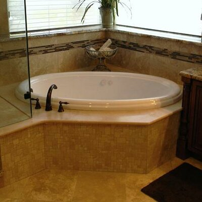 69 x 41 Drop-In Air Tub Finish: White, Drain Location: Right