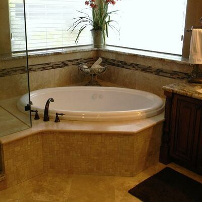 69 x 41 Drop-In Whirlpool Tub Finish: White, Drain Location: Left