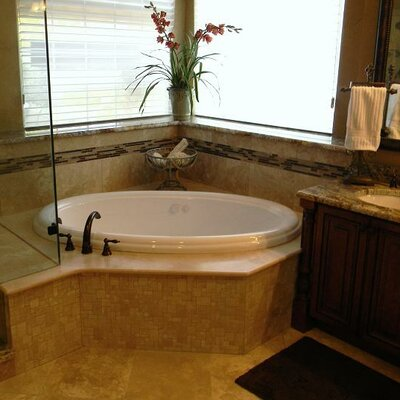 69 x 41 Soaker Drop-In Bathtub Finish: White