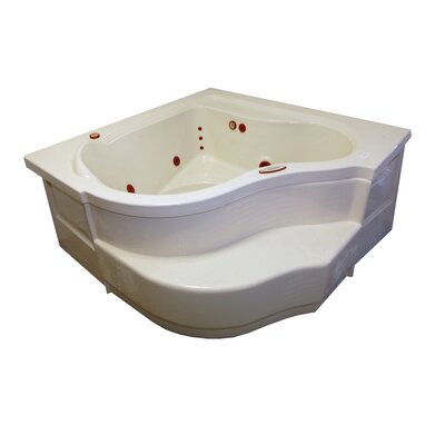 60 x 60 Whirlpool Bathtub Finish: Biscuit, Motor Location: Left
