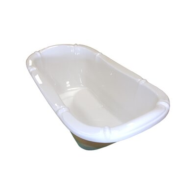 69 x 39 Whirlpool Bathtub Finish: Bone, Drain Location: Left