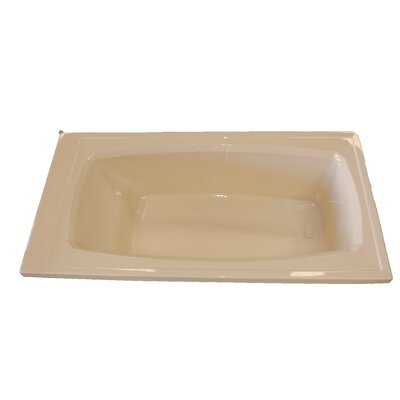 72 x 36 Air / Whirlpool Bathtubub Finish: Biscuit, Drain Location: Right