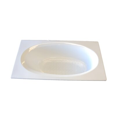 60 x 36 Air Tub Finish: Bone, Drain Location: Left