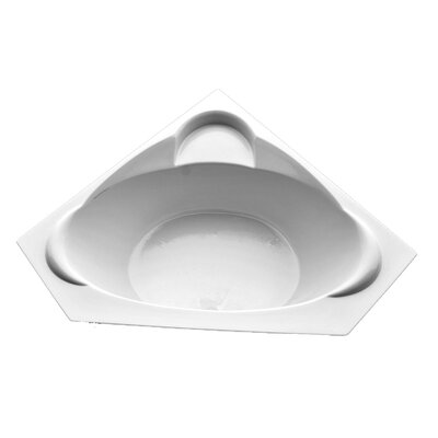 60 x 60 Corner Whirlpool Tub Finish: White, Motor Location: Left