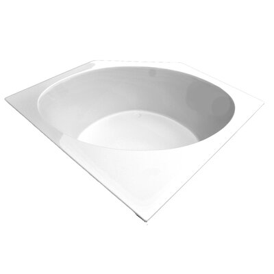 60 x 60 Corner Salon Spa Air/Whirlpool Tub Finish: White, Motor Location: Left