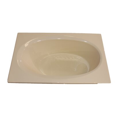 72 x 42 Salon Spa Air/Whirlpool Tub Finish: Bone, Drain Location: Left