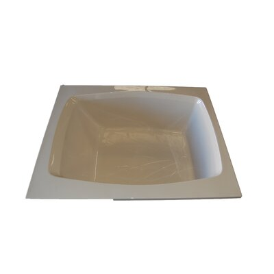 60 x 48 Air Tub Finish: Bone, Drain Location: Left