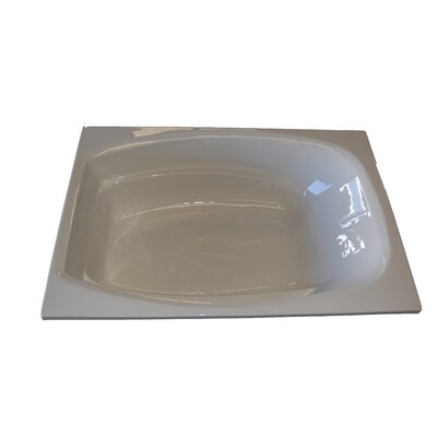 72 x 48 Whirlpool Tub Finish: Biscuit, Drain Location: Right