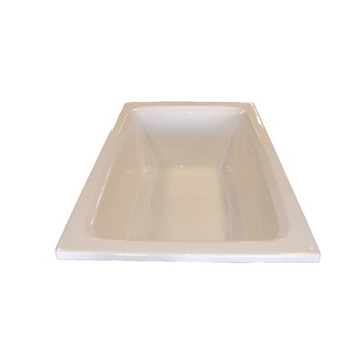 60 x 42 Rectangular Whirlpool Tub Finish: White, Drain Location: Left