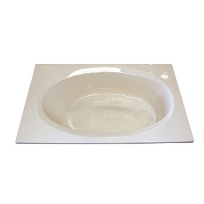 72 x 36 Salon Spa Soaking Tub Finish: White, Drain Location: Right