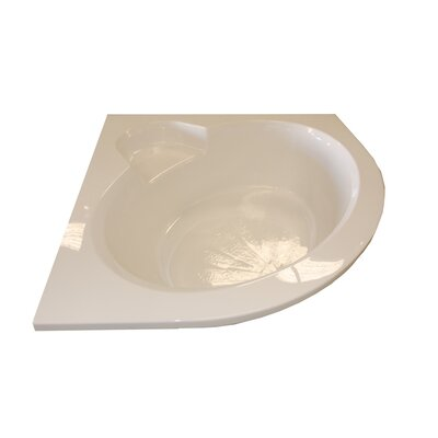 60 x 60 Round Front Corner Salon Spa Soaking Tub Finish: Bone, Motor Location: Right