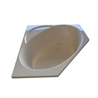 "48"" x 48"" Corner Soaking Tub Finish: Biscuit, Motor Location: Right"
