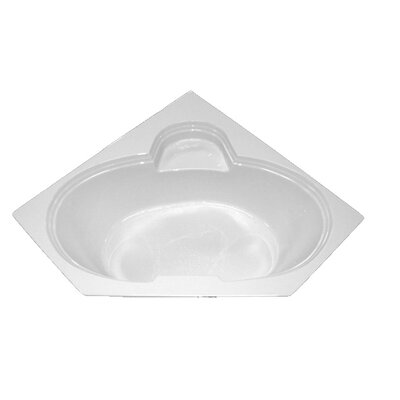 60 x 60 Corner Salon Spa Soaking Tub Finish: Bone, Motor Location: Left