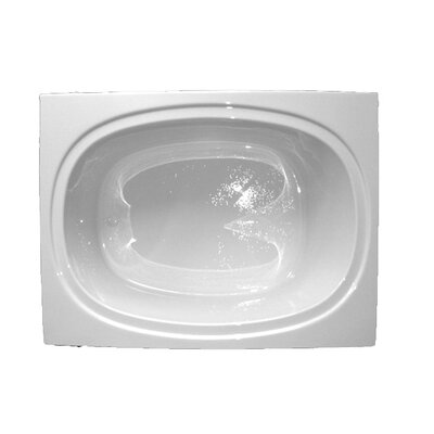 60 x 42 Massage Soaking Tub Finish: Bone, Drain Location: Left