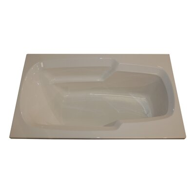 60 x 36 Arm-Rest Salon Spa Air/Whirlpool Tub Finish: Bone, Drain Location: Left