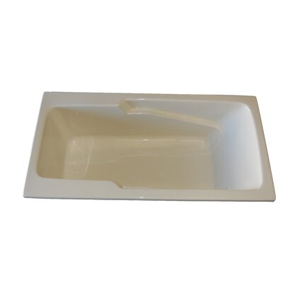 60 x 30 Armrest Salon Spa Air/Whirlpool Tub Finish: White, Drain Location: Left